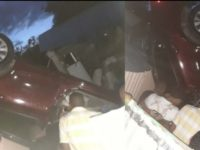 Vehículo cae a precipicio en Av. Canada en Ocoa