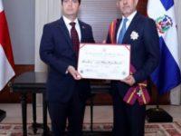 Orden Vasco de Balboa; Gobierno de Panamá condecora al embajador ocoeño Rafael Tejeda