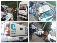Asistencia Vial auxilia equipo de prensa del periódico El Caribe que se accidentó en la 6 de Noviembre