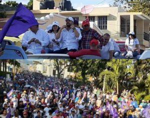 Gigantesco cierre de campaña de Aneudy Ortiz con acto masivo en San José de Ocoa